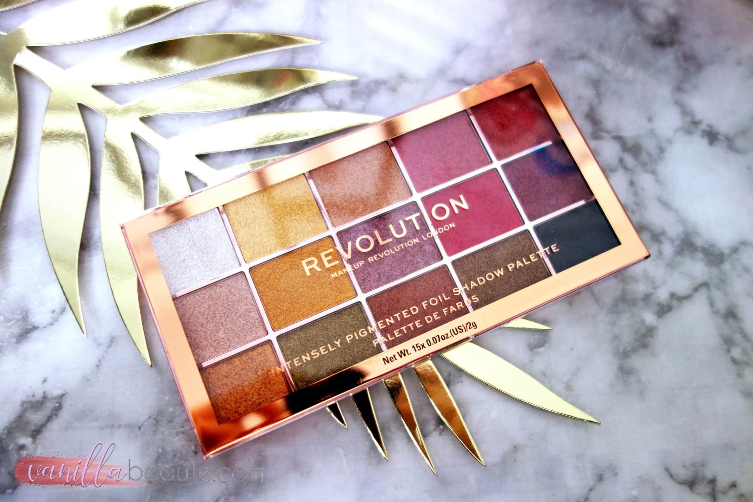 revue sur la palette revolution beauty foil frenzy